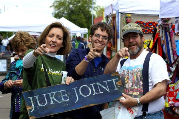 Magical Madge Marley Howell, Ambram Paschal Jones, Rev. Hugh B. Jones, Jr. at Juke Joint Festival