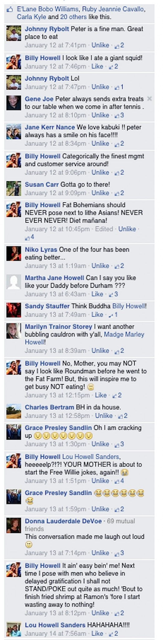 Facebook Comments with THE LITHE ORIENTALS photograph