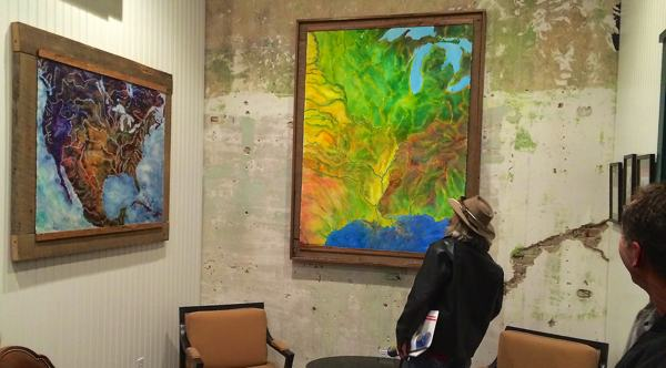Rice Farmer Outfits Delta Office with John Ruskey Paintings