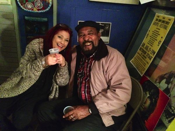 Bluesberry Cafe owner Carol Crivaro with James Super Chikan Johnson