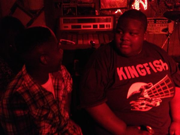 Drummer Hollywood Rashaun Riley and Christone Kingfish Ingram at Red's Lounge ©2013 DELTA BOHEMIAN®