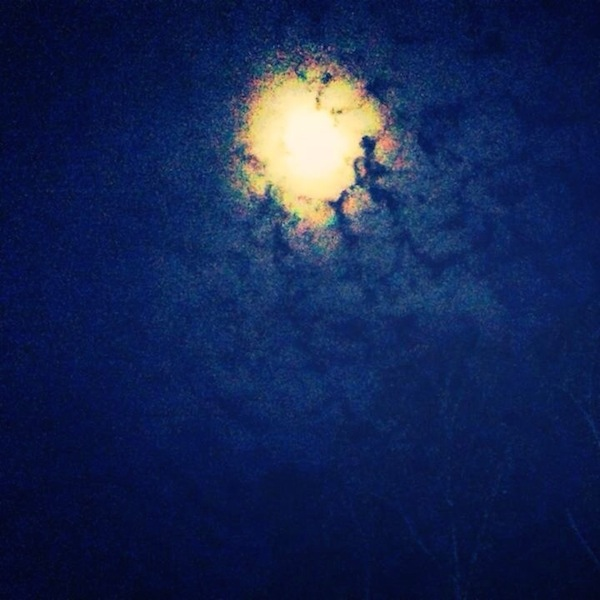 Moon over the Mississippi Delta