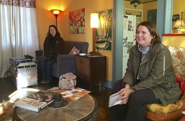 The 'Sip Photographer Melanie Thortis and Publisher Lauchlin Fields in the Delta Bohemian Guest House