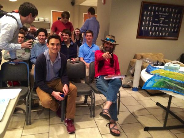 John Ruskey Lectures Delta Psi Fraternity at Ole Miss