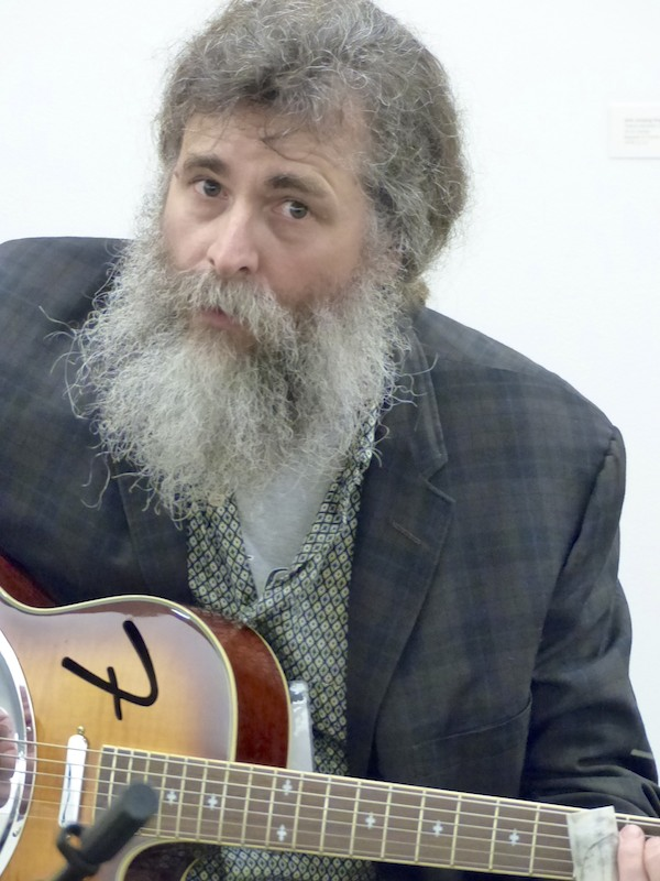 Bluesman and artist Bill Abel. Photo by The Delta Bohemian