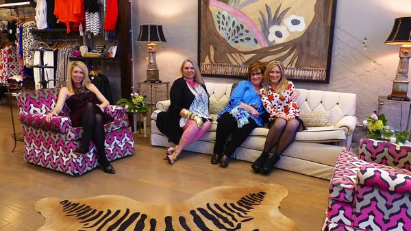 Dorry Lea Davis, Marilyn Trainor Storey, Cathy Campbell, Jordan Easley Yancey at Bella in Helena on Grand Opening night
