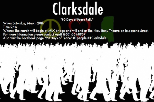 90 Days of Peace Rally in Clarksdale