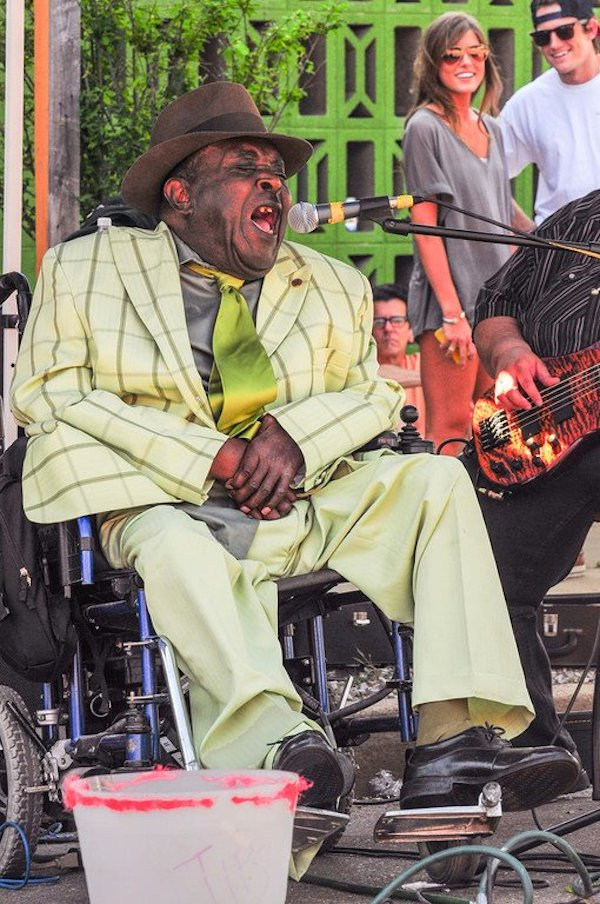 CeDell Davis performing at Juke Joint Festival 2012. Photo by ©Eric Stone
