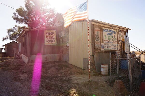 Po' Monkey's jukejoint as seen on Delta Bohemian Tour. Photo by Andrea Vlonk
