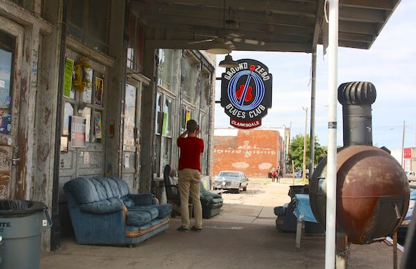 Ground Zero Blues Club in Clarksdale, a live music venue.