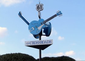 Cool places to stay in Clarksdale are not far from The Crossroads Sign