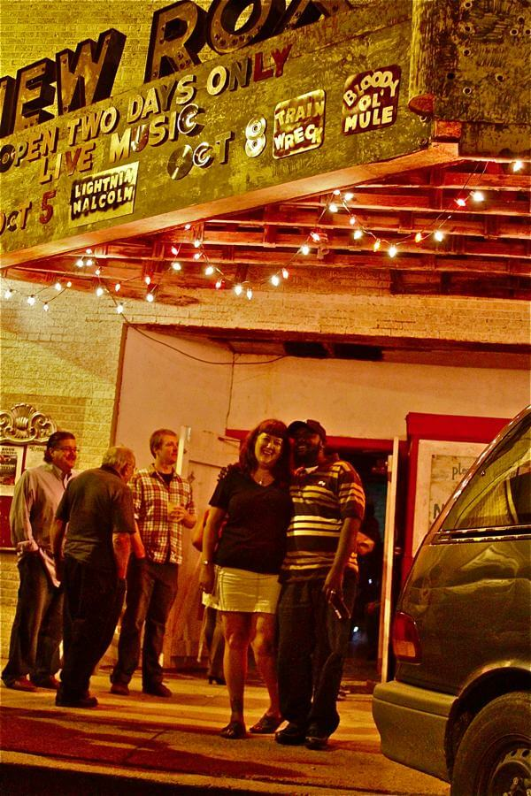 New Roxy in Clarksdale, a live music venue.