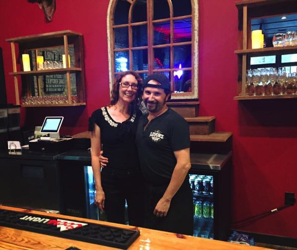 Co-owners and Operators of Levon's Bar & Grill Naomi Casaceli and Johnny Cass
