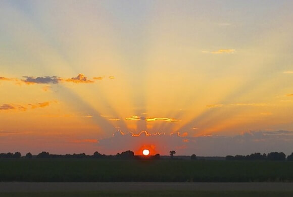 A Sunset in the Mississippi Delta - imparting a Delta Sigh Blessing