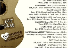 Sounds Around Town in Clarksdale week starting Thursday, September 22, 2016.