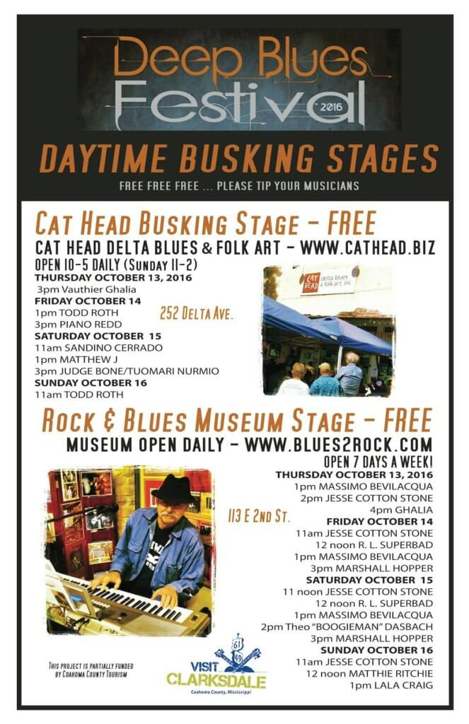 Deep Blues Festival in Clarksdale. MISSISSIPPI DELTA MUSIC CITY