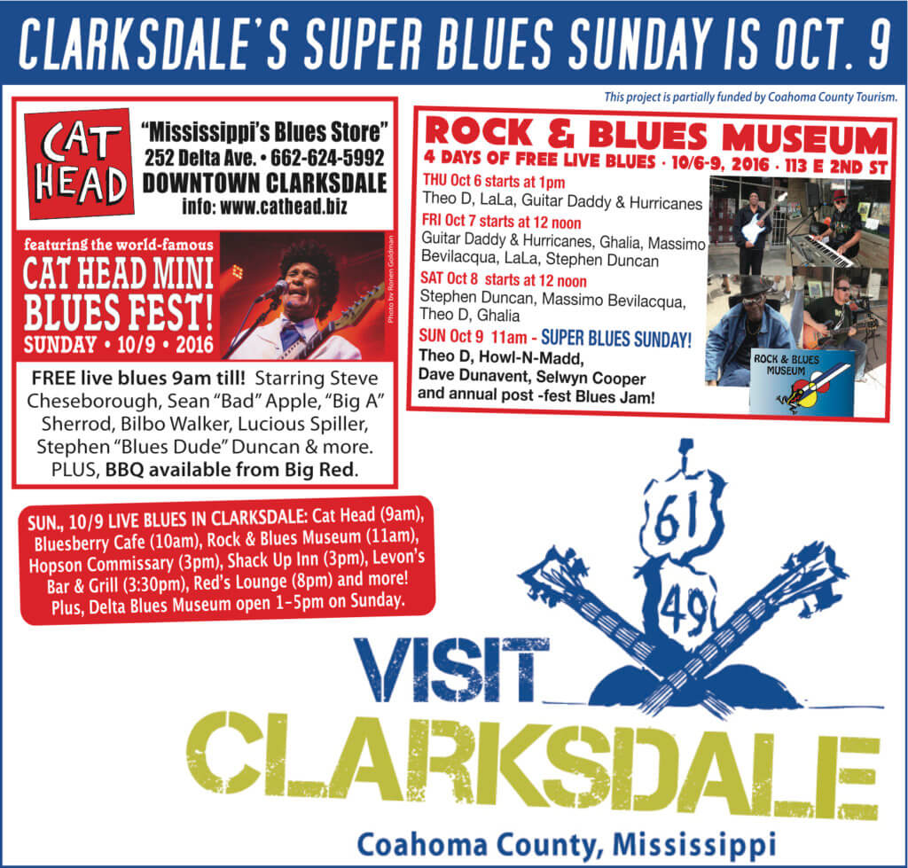 Clarksdale Super Blues Sunday 2016 #SuperBluesSunday
