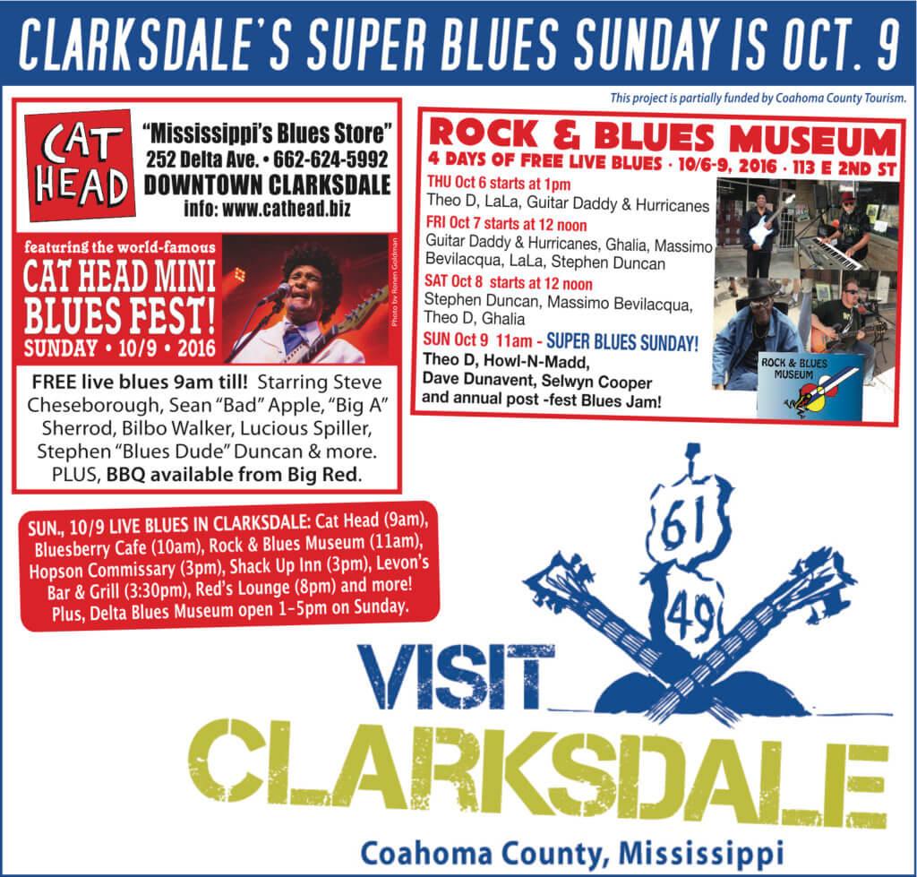 Clarksdale Super Blues Sunday 2016 #SuperBluesSunday