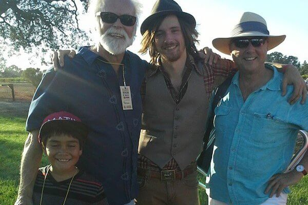 Founders of WXXO - XRDS.fm Bill Bowker and Charles Evans with Bill's grandson and musician David Luning