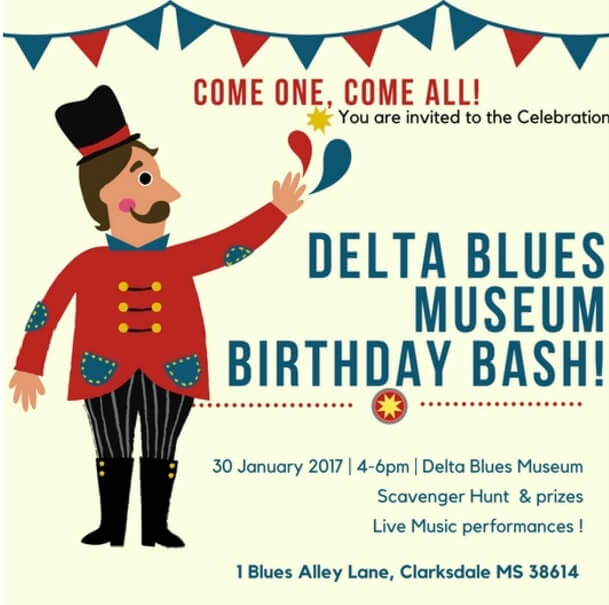 Delta Blues Museum Birthday Bash – MONDAY at 4!