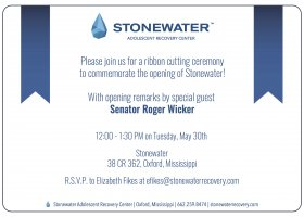 Roger Wicker to address adolescent addiction recovery
