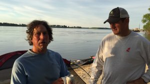 """Paddle to the Amazon"" Adventurer Dana Starkell and Mr. Lil John McKee on the MS River."