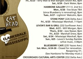 Sounds Around Town in Clarksdale week starting Thursday, June 22, 2017.