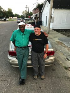 Clarksdale Taxi Cab Driver Roosevelt Noah with Chilly Billy Howell of Delta Bohemian Tours