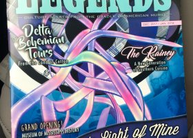 Legends Magazine December 2017 January 2018 cover features Delta Bohemian Tours