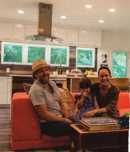 Bradley Gordon and family in Oxford Magazine A Home Built For Three