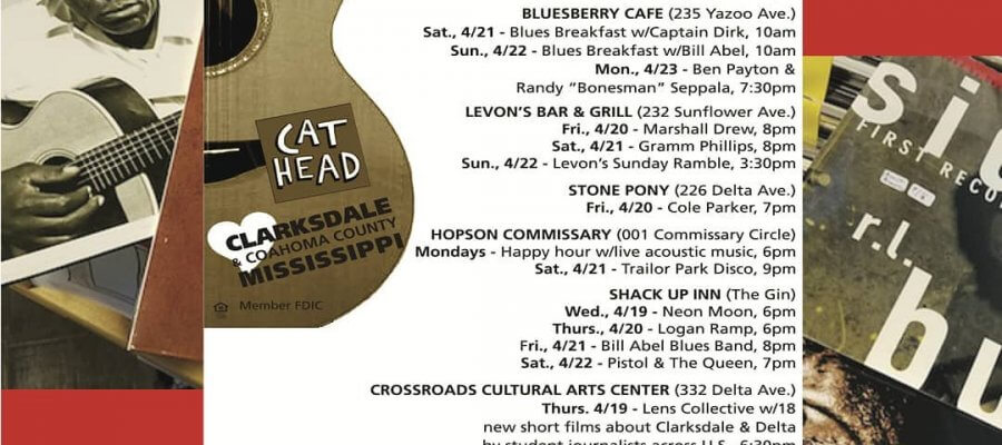 Sounds Around Town in Clarksdale week starting Thursday April 19, 2018.
