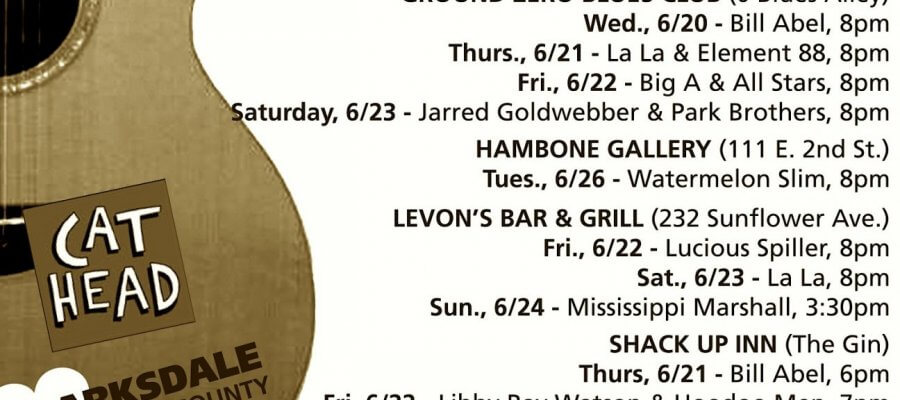 Sounds Around Town for week starting Wednesday, June 20, 2018.