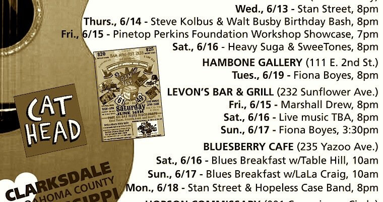 Sounds Around Town in Clarksdale for week beginning Thursday, June 14, 2018.