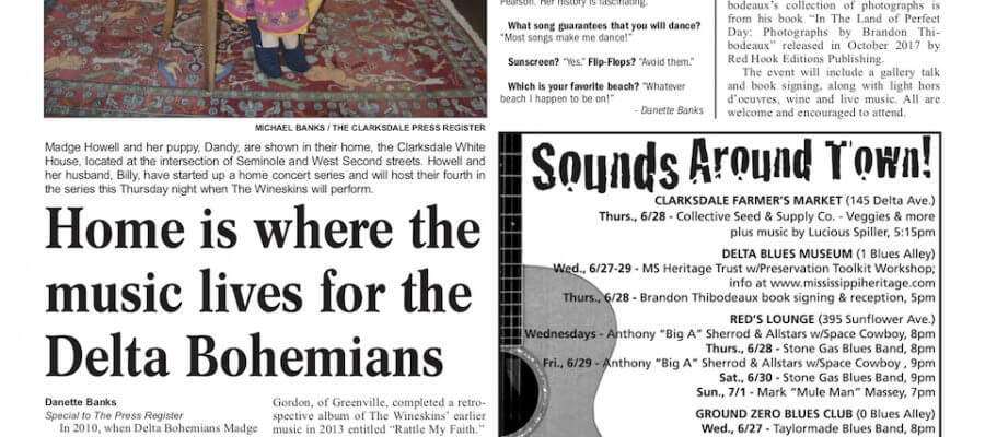 Clarksdale Entertainment Section of Clarksdale Press Register