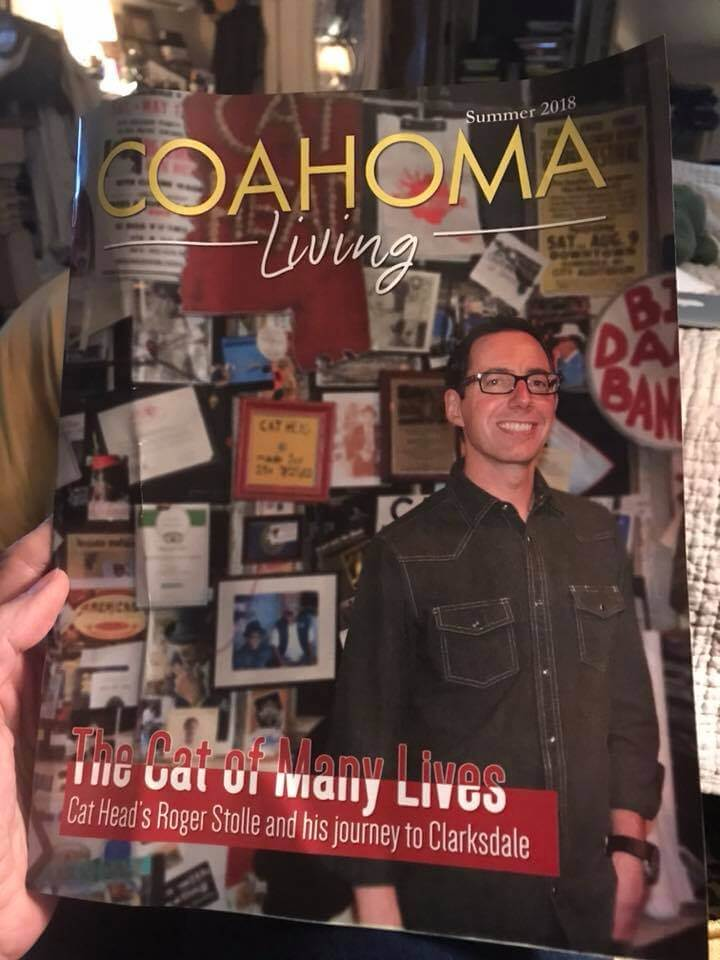 Roger Stolle featured in Clarksdale Entertainment special section insert of Coahoma Living of Clarksdale Press Register