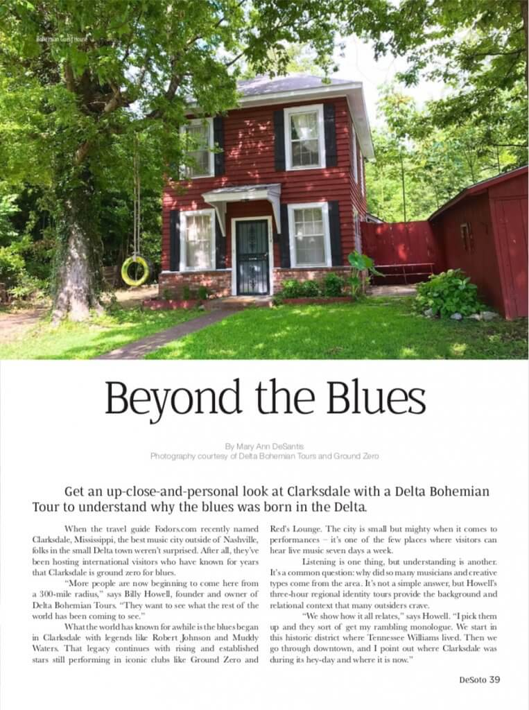 DeSoto Mag Beyond the Blues article Aug 2018
