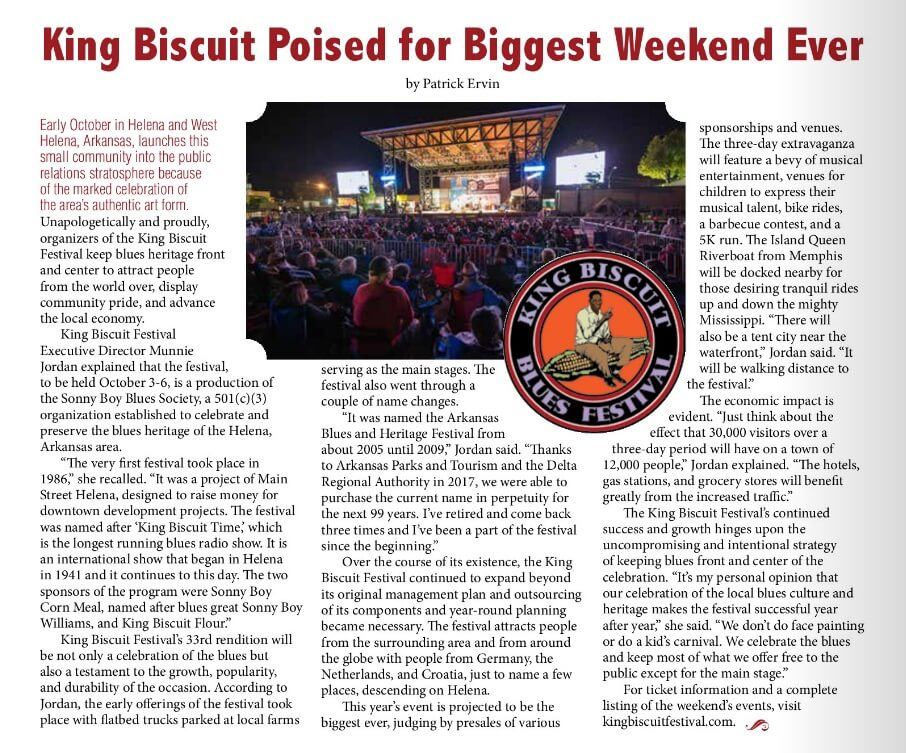 Life in the Delta Magazine King Biscuit Blues Festival article