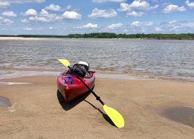 It is Riparian, Agrarian & Prelapsarian. Kayak on the Mississippi River.