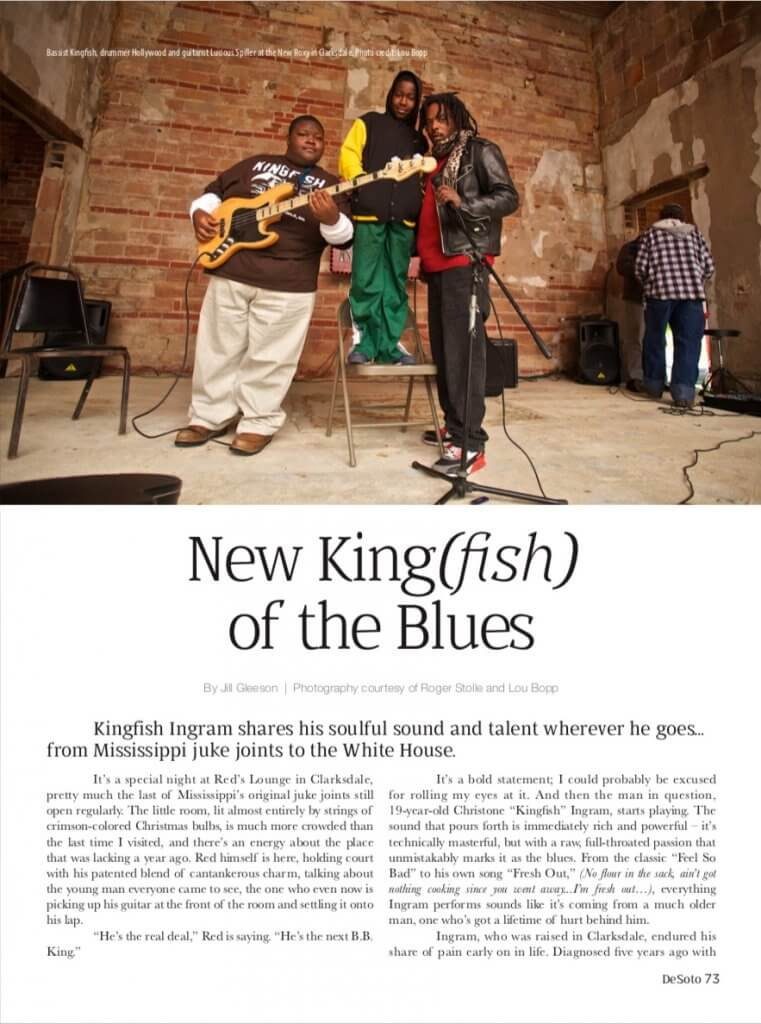 DeSoto Magazine New King(fish) of the Blues