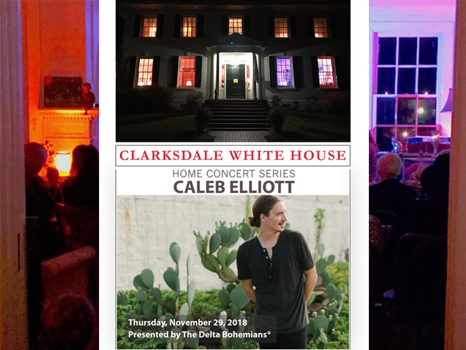 Clarksdale White House Home Concert Series features Caleb Elliott