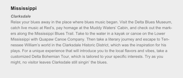 Expedia names Clarksdale as the best place to escape in Mississippi
