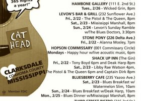 Sounds Around Town in Clarksdale starting Wednesday of every week.