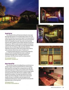Delta Magazine Annual Tourism Issue 2019 - Cool Digs in Clarksdale