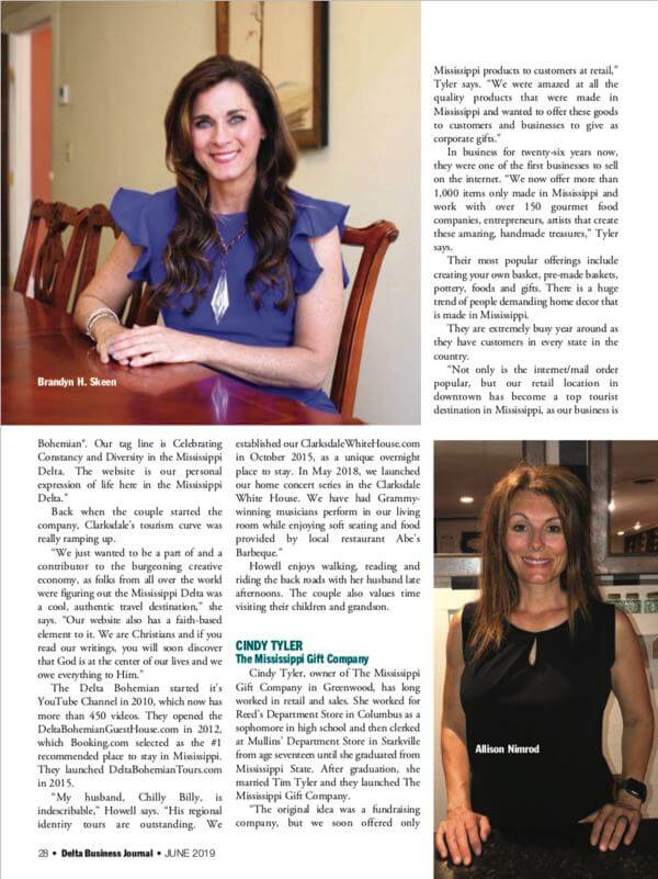 DBJ profiles seven Delta women in business - pictured Brandyn H. Skeen and Allison Nimrod