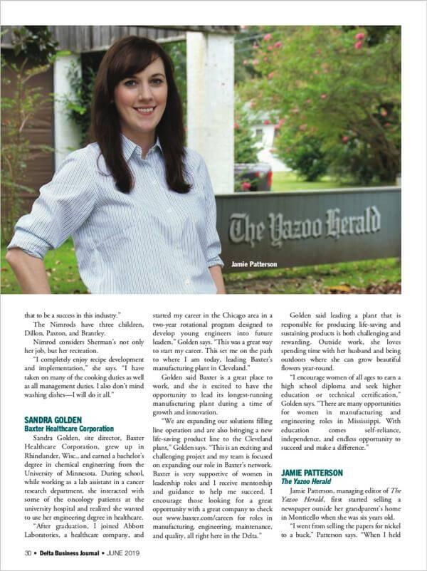 DBJ profiles seven Delta women in business - pictured Jamie Patterson