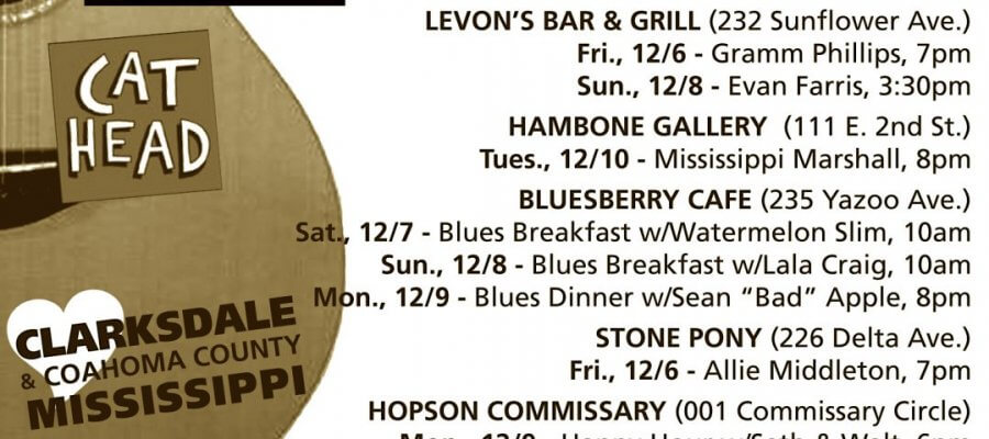 Sounds Around Town in Clarksdale begins Wednesday of each week.
