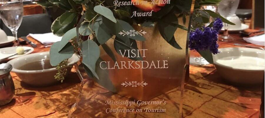 Visit Clarksdale Research-in-Action Award Mississippi Governor's Conference on Tourism