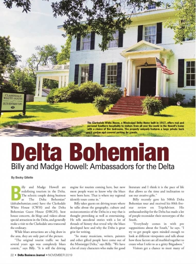 DBJ features Delta Bohemians Billy and Madge Howell