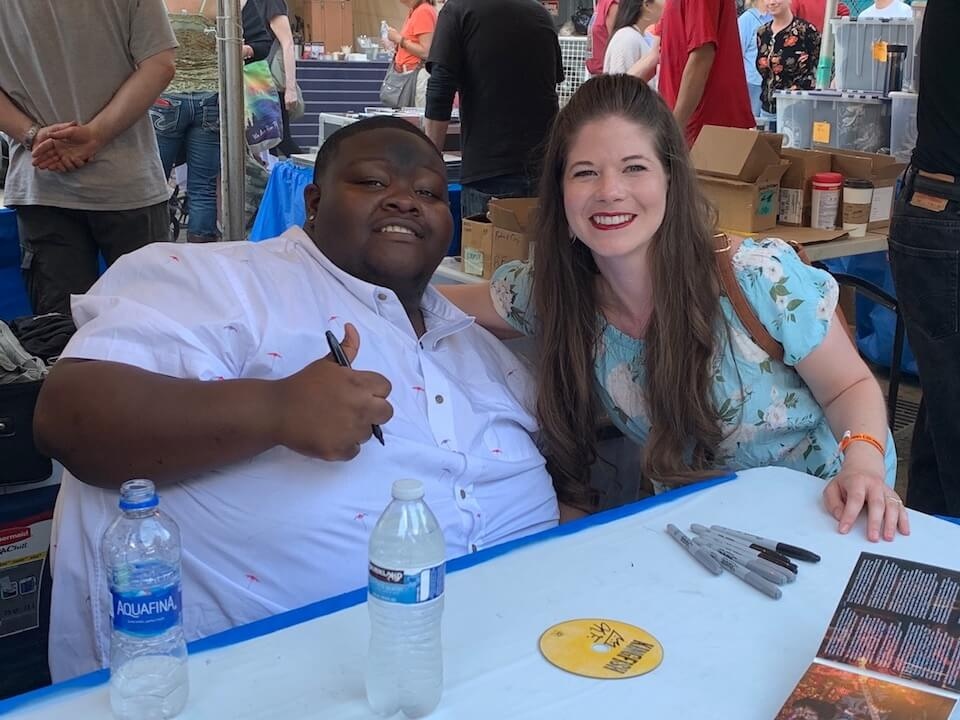 Kingfish loves meeting his fans. This is in Portland at the Waterfront Blues Festival 2019